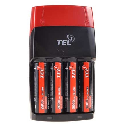 NABÍJEČKA na tužkové baterie Tel1 AA/AAA + 4 kaci AA 2800mAh, 18672