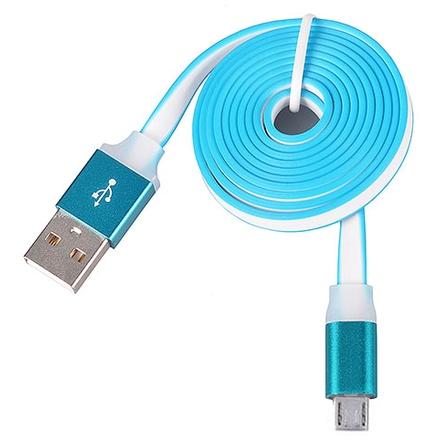 Tel1 KABEL 1 metr PC SLIM (kovový hrot) MICRO USB modrá 38956