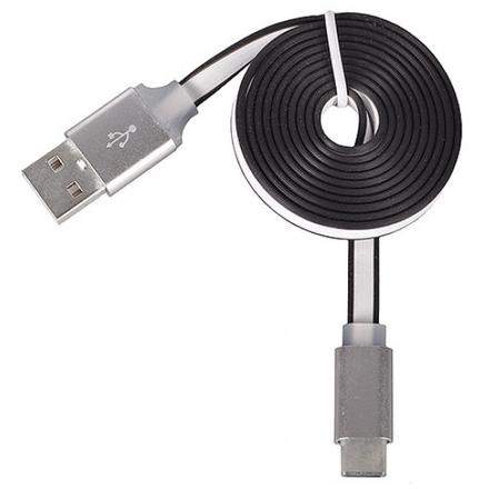 Tel1 KABEL 1 metr PC SLIM (kovový hrot) (MICRO USB TYP C) bílá 38957