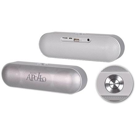 Bluetooth reproduktor (výkon 2x3W) APOLLO s rádiem stříbrná 42290