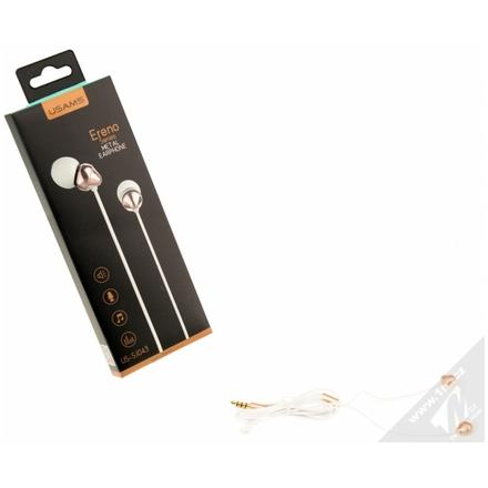 Sluchátka s mikrofonem a ovladačemUSAMS Ereno white 90590