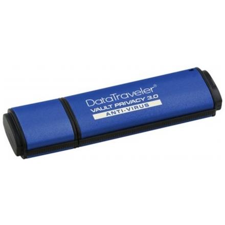 8GB Kingston DTVP30AV USB 3.0 256bit AES + ESET AV, DTVP30AV/8GB