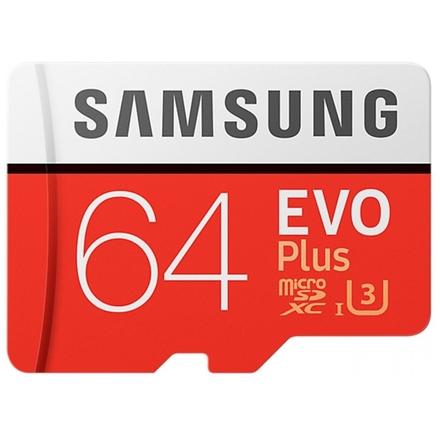 Samsung micro SDXC 64GB EVO Plus + SD adaptér, MB-MC64GA/EU
