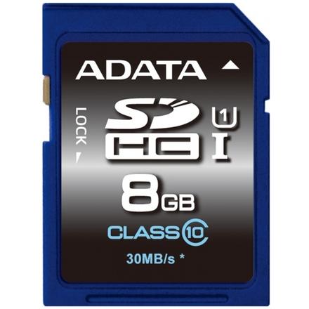 ADATA SDHC 8GB UHS-I Premier,Class 10, ASDH8GUICL10-R