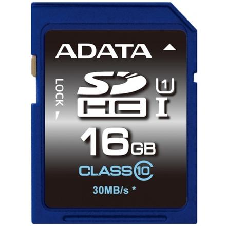 ADATA SDHC 16GB UHS-I Premier,Class 10, ASDH16GUICL10-R
