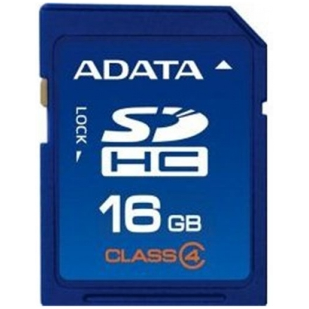 ADATA 16GB SDHC Card Class 4, ASDH16GCL4-R