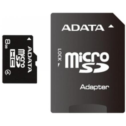 ADATA 8GB MicroSDHC Card with Adaptor Class 4, AUSDH8GCL4-RA1