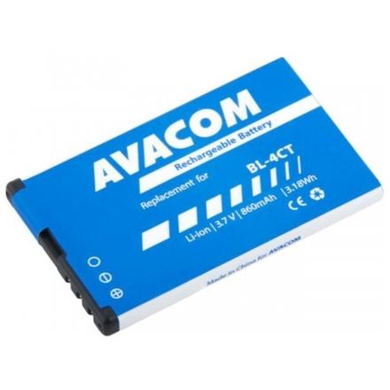 Baterie AVACOM GSNO-BL4CT-S860 do mobilu Nokia 5310 XpressMusic Li-Ion 3,7V 860mAh (náhrada BL-4CT), GSNO-BL4CT-S860