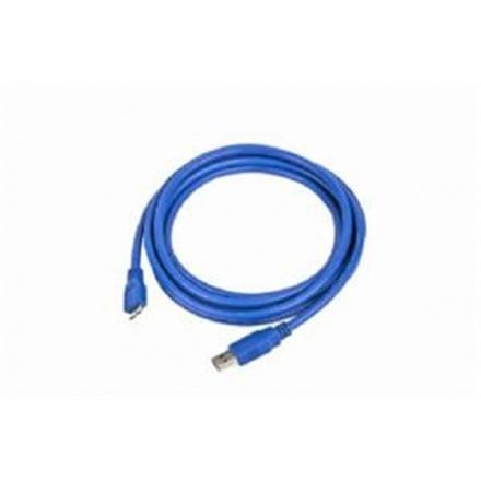 Gembird Kabel USB A-B micro 3m 3.0, modrý, CCP-mUSB3-AMBM-10