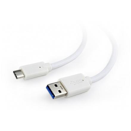 Gembird Kabel CABLEXPERT USB 3.0 A - USB-C M/M, 1m, bílý, CCP-USB3-AMCM-1M-W