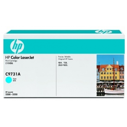 HP Color LaserJet azurový toner, C9731A, C9731A - originální
