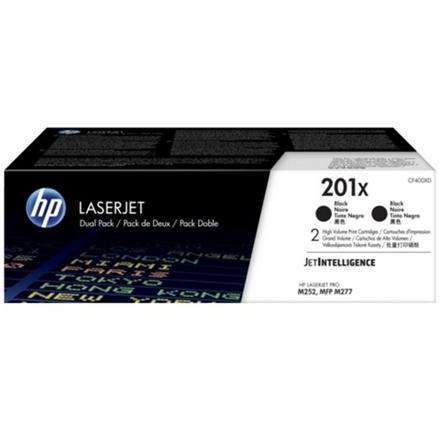 HP 201X tisková kazeta černá velká,CF400XD -2 pack, CF400XD - originální