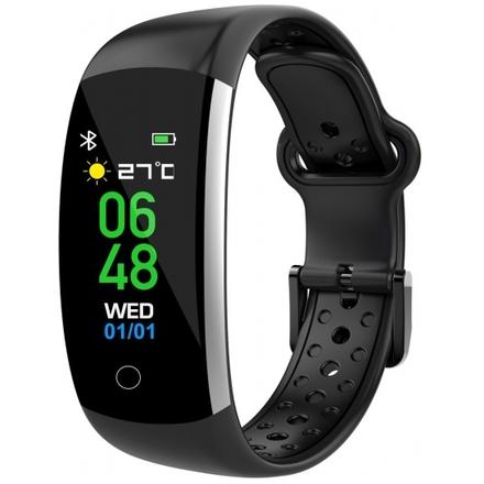 iGET FIT F2 Black - chytrý náramek, IP68, Multisport, LCD, 90mAh, Find Watch, F2 Black