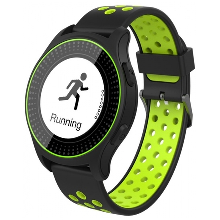 iGET ACTIVE A2 Green - chytré hodinky, IP68, LCD, GPS, BT 4.0, export STRAVA, 300 mAh, Multisport, A2 Green