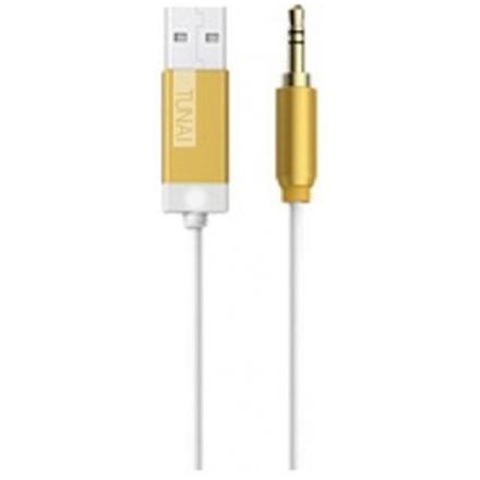 Tunai Creative hudební Bluetooth přijímač Firefly pro autorádia a domácí Hi-Fi, zlatý, PTF-003