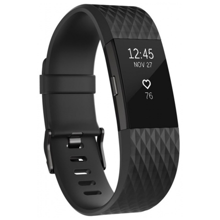 Fitbit Charge 2 Black Gunmetal - Small, FB407GMBKS-EU