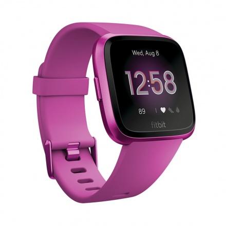 Fitbit Versa Lite - Mulberry/Mulberry Aluminum, FB415PMPM