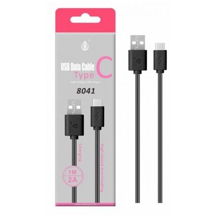 Aligator Datový a nabíjecí kabel PLUS, USB-C, délka 1m, 2A, USB 2.0, (8041), černý, 2100002