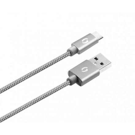 ALIGATOR PREMIUM Datový kabel 2A, USB-C šedý, DATKP08