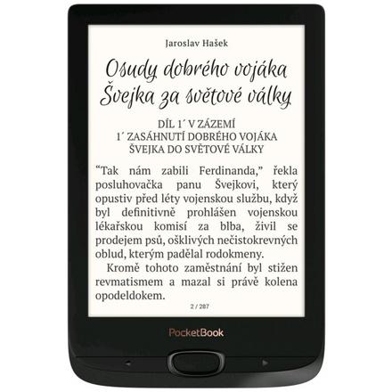 E-book POCKETBOOK 616 Basic Lux 2, Obsidian Black, PB616W-H-WW