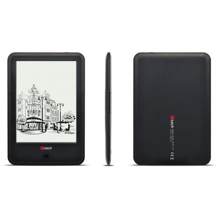 C-TECH E-book Lexis 8GB, HD, Android 4.2, černá, EBR-61