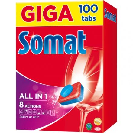 Somat All in One tablety do myčky, 100 ks