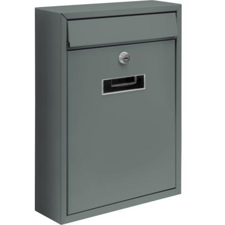 Poštovní schránka 360x260x80mm šedá, TO-78556