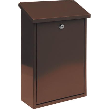 Poštovní schránka 400x250x100mm hnědá, TO-78572