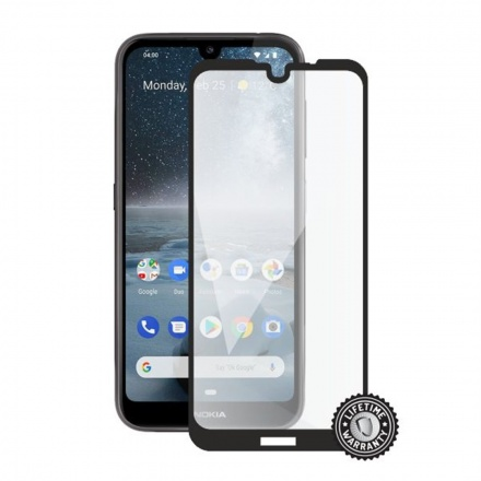 Screenshield NOKIA 4.2 (2019) Tempered Glass protection (full COVER black), NOK-TG25DB422019-D