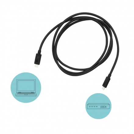 i-tec Thunderbolt 3 – Class Cable, 40 Gbps, 100W Power Delivery, USB-C Compatible, 150cm, TB3CBL150CM