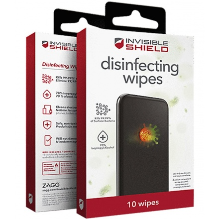 Devia InvisibleShield dezinfekční ubrousky 10 ks, DEZUBRZG10XWH