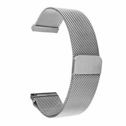 Tactical 640 Loop Magnetický Kovový Řemínek 20mm Silver, 8596311113987