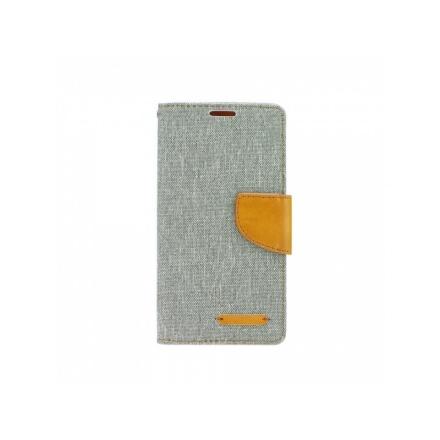 Pouzdro Telone Fancy Huawei P20 Lite šedá-hnědá