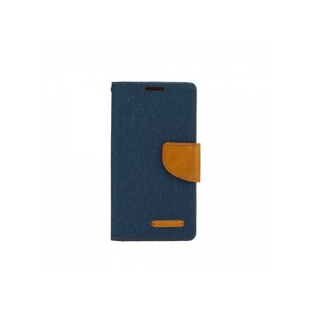 Pouzdro Telone Fancy Huawei Y6 II (Y6-2) tmavě modrá-hnědá