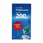 GOMOBIL PŘEDPLACENKA - KREDIT 200,- KČ
