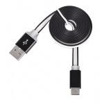 Tel1 KABEL 1 metr PC SLIM (kovový hrot) (MICRO USB TYP C) černá 39007