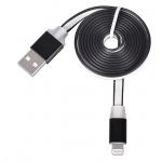 Tel1 KABEL 1 metr PC SLIM (kovový hrot) IPHONE 5/5S/6/6S/SE černá 39277