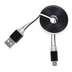 Tel1 KABEL 1 metr PC SLIM (kovový hrot) MICRO USB černá 39278