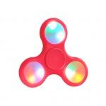 Fidget Spinner LED světelný červená 45406