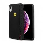 Pouzdro originál FERRARI - Hard Case On Track Grid FESITHCI61BK - Iphone XR černá