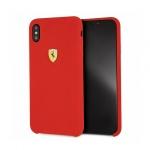 Pouzdro originál FERRARI - Hard Case Silicone FESSIHCI65RE  - Iphone XS Max červená
