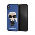 "Pouzdro originál KARL LAGERFELD - Iconic Karl Embossed Hard Case KLHCI61IKPUBL - Iphone XR (6,1"") modrá"