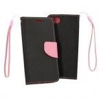Pouzdro Telone Fancy - Xiaomi Redmi Go černá-růžová 56631