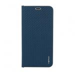 Pouzdro Vennus Book CARBON s kovovým rámem Xiaomi Mi 8 modrá 56920