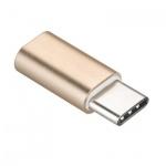 Adapter Micro USB - USB Typ-C [PA-30] zlatá 737419968