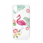 Pouzdro Forcell Summer FLAMINGO iPhone 5/5S/SE transparentní 737909704