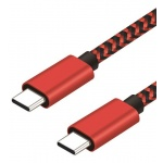 Winner 2xUSB-C 3A datový kabel 1m, červená 8591194093111
