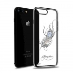 Pouzdro Crystal (Swarovski) KINGXBAR iPhone 7/8 Classic Plumage piano černá