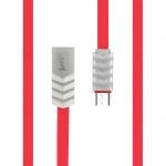 Datový kabel Wave Beeyo microUSB červená 26869