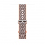 Apple Watch Acc/42/Spicy Orange Check Woven Nylon, MQVP2ZM/A